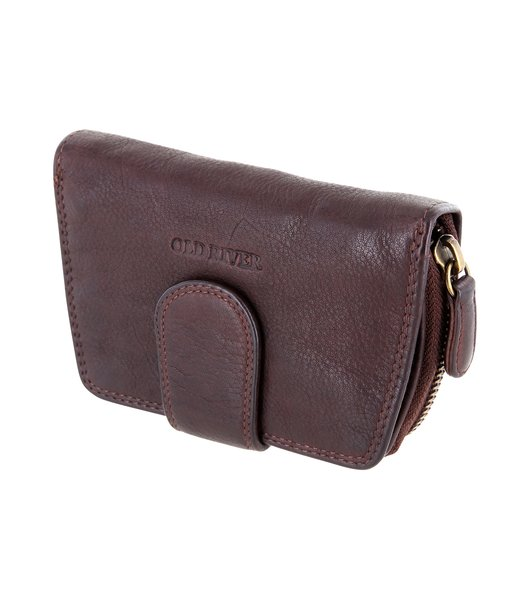 Ladies Purse, Wallet Billfold Old River, washed leather