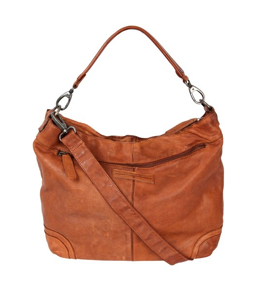 Ladies bag, Pouch Shopper Hobo bag The British Brand Mod.2147 in Vintage Look, washed leather