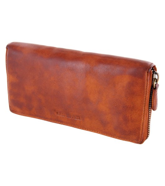 Ladies Purse, Wallet Billfold Old River Mod.5029 (19/ 10/ 3 cm), washed leather